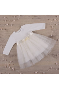 Платье «Нежность 2» молочного цвета