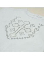 Костюм для хрещення дівчинки «Янгол» з білого трикотажу
