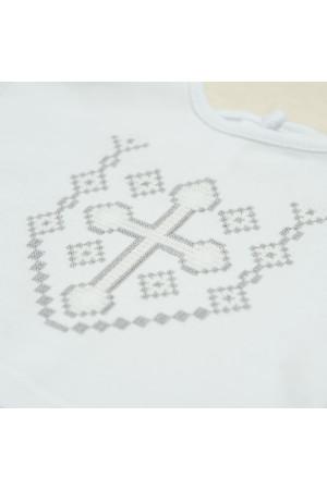Костюм для хрещення хлопчика «Янгол» з білого трикотажу