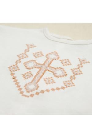 Костюм для хрещення хлопчика «Янгол» з молочного трикотажу