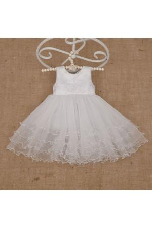 Платье «Жемчужинка» белого цвета