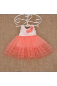 Платье «Натали» кораллового цвета