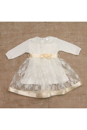 Платье для девочки «Мечта» молочного цвета