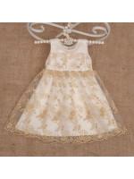 Платье «Ажурное» золотистого цвета
