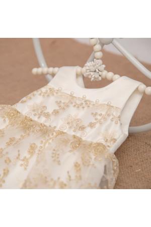 Сукня «Ажурна» золотистого кольору