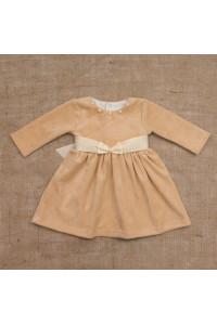 Платье «Бусинка» кофейного цвета