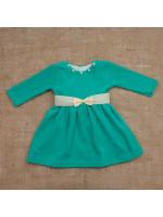 Платье «Бусинка» мятного цвета