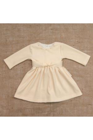 Платье «Бусинка» молочного цвета