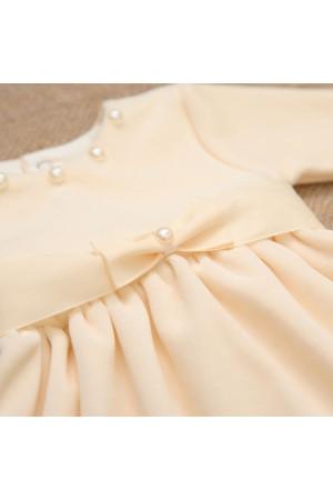 Сукня «Намистинка» молочного кольору