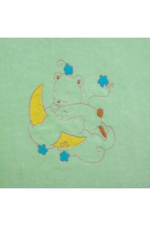 Одеяло «Медвежонок» зеленого цвета
