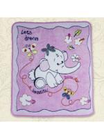 Одеяло «Малыш и слоненок» розового цвета
