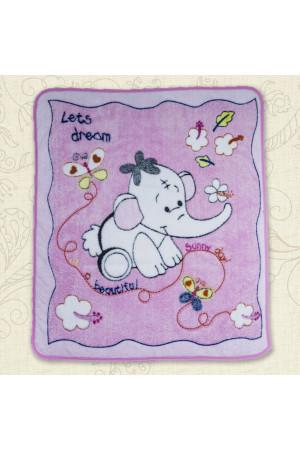 Ковдра «Малюк та слоненя» рожевого кольору