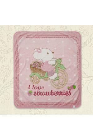 Одеяло «Малыш и мышонок» розового цвета