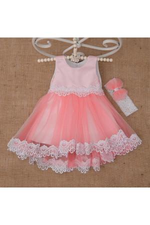 Платье «Жасмин» кораллового цвета