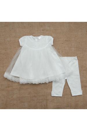 Костюм для дівчинки «Діва Марія» білого кольору з коротким рукавом