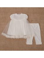 Костюм для дівчинки «Діва Марія» молочного кольору з коротким рукавом