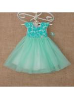 Платье «Бриллиант» мятного цвета