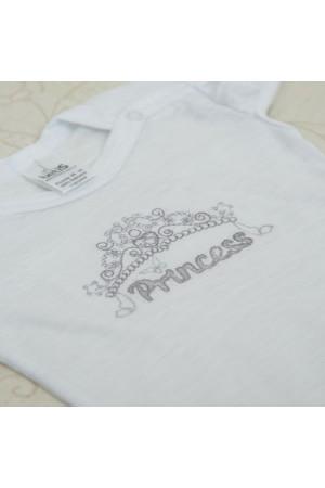 Боді «Принцеса» білого кольору