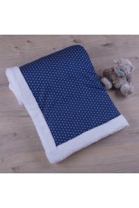 Одеяло «Джинсик» в белый горошек