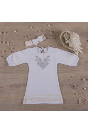 Сорочка для хрещення «Чарівність» білого кольору