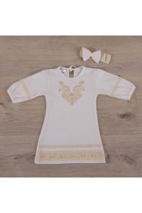 Сорочка для крещения «Очарование» молочного цвета