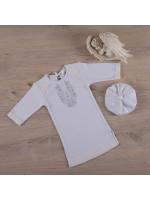 Сорочка для крещения мальчика «Очарование» молочного цвета