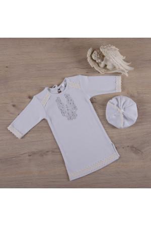 Сорочка для хрещення хлопчика «Чарівність» молочного кольору