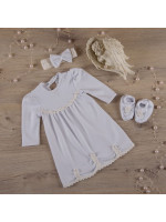 Костюм для хрещення дівчинки «Гармонія» білого кольору