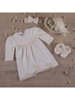 Комплект для крещения девочки «Гармония» молочного цвета