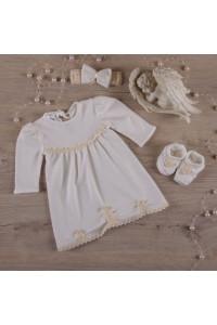 Костюм для хрещення дівчинки «Гармонія» молочного кольору
