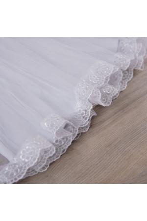 Костюм для дівчинки «Діва Марія» білого кольору з довгим рукавом