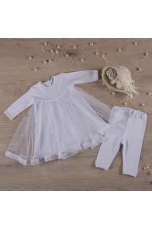 Костюм для дівчинки «Діва Марія» молочного кольору з довгим рукавом