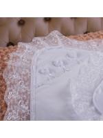 Крижма «Намисто янгола» білого кольору