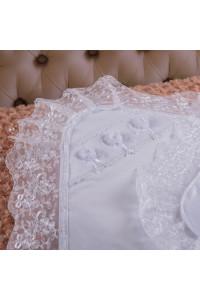 Крыжма «Ожерелье ангела» белого цвета