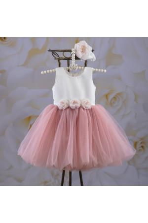 Платье «Эмилия» цвета пудры