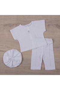 Костюм для хлопчика «Хрестильний» білого кольору
