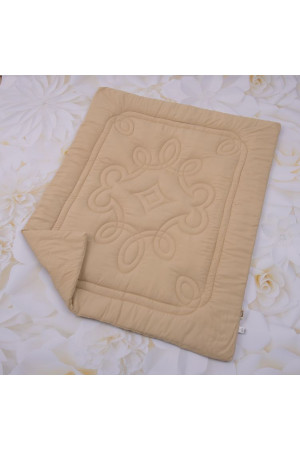 Одеяло «Барвы» цвета кофе с молоком