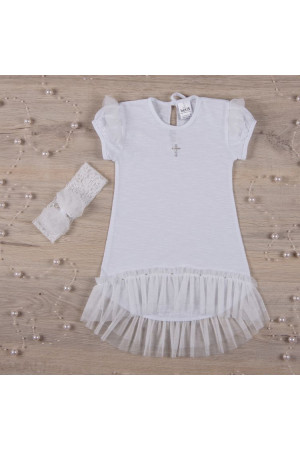 Сорочка для крещения «Ангелочек» белого цвета