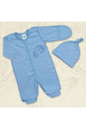 Костюм «Веселые ежики» голубого цвета