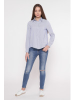 Рубашка «Анна» в синюю полоску