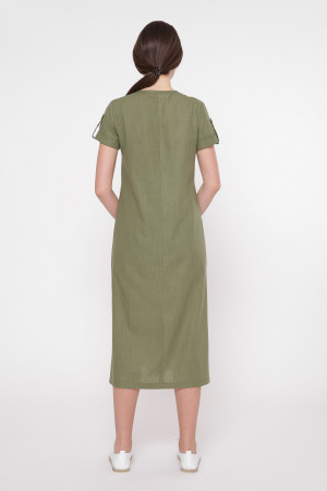 Платье «Клео» цвета хаки