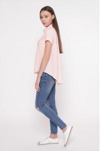 Блуза «Пат» пудрового кольору