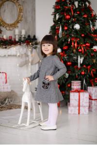 Платье «Ляна-Мики» серого цвета