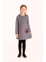 Сукня «Ляна-сова» сірого кольору