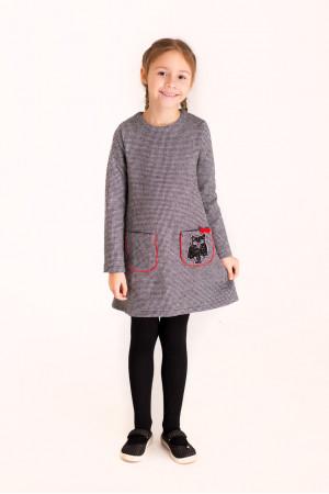 Платье «Ляна-сова» серого цвета