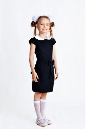 Платье «Ася» черного цвета с белым воротником