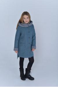 Дитяче пальто «Гарденія» кольору полину