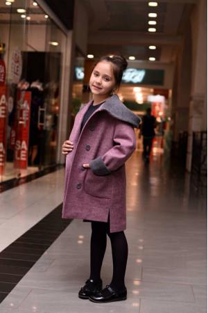 Дитяче пальто «Гарденія» кольору рожевий меланж
