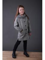 Детское пальто «Гардения» серого цвета