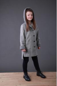 Дитяче пальто «Гарденія» сірого кольору